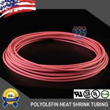 20 Ft 20 Feet Red 18 3mm Polyolefin 21 Heat Shrink Tubing Tube Cable Us