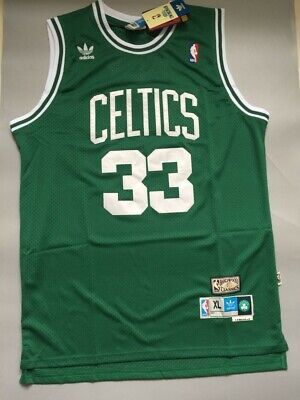 Boston Celtics #33 Larry Bird Basketball Jersey Green Size XXL S
