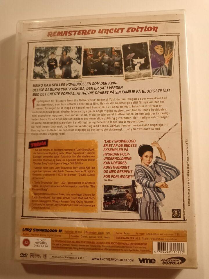Lady Snowblood ll, DVD, karatefilm