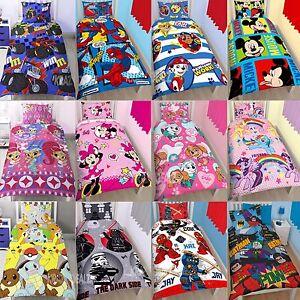 Official-Licensed-Character-Single-Duvet-Cover-Bed-Set-Kids-Boys-Girls-Gift