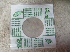plastic-JOEY-DINA-SAS-MONI-DISCOS-45-record-company-sleeve-only-45