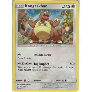 163//236 Kangaskhan Rare Holo Reverse Holo Unified Minds Pokemon Card