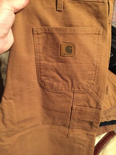 Brown 36-30 Carhartt B11 Washed Duck Work Dungaree
