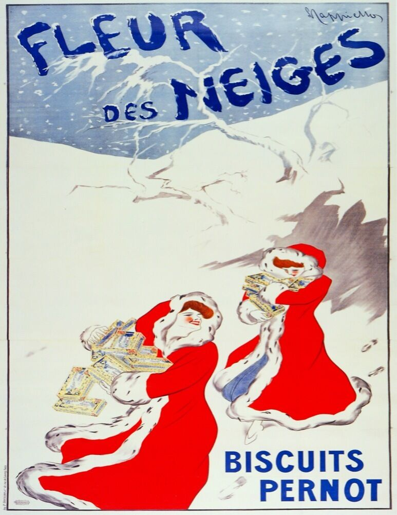 3074.Santa Mrs Claus French POSTER.rosso.Biscuit Pernot.Home room office art decor