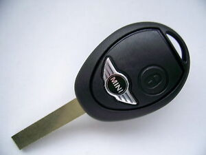 bmw mini cooper one s 2 button remote key fob case blade logo ebay. Black Bedroom Furniture Sets. Home Design Ideas