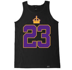 reputable site 1c2f1 44611 Details about 23 KING LAKERS LEBRON JAMES HIP HOP RAP KOBE BALL CHAMPS LOS  ANGELES LA TANK TOP