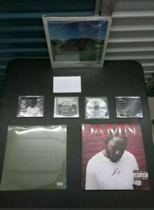 COA 8 albums KENDRICK LAMAR SIGNED CD VINYL set lot collection original Hip Hop