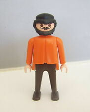 PLAYMOBIL (B4104) WESTERN - Homme Gentleman Orange & Marron Gare Colorado 3770