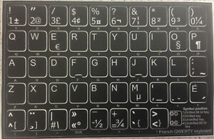 French Qwerty Non Transparent Keyboard Stickers Black New Ebay