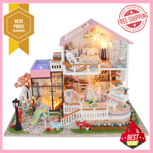 LOL SURPRISE DOLL HOUSE Made with REAL WOOD/_/_ POPULAR Dollhouse Birthday Gifts