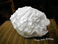 Will'beth White Ruffle Diaper Cover Bloomers Size Large 6 12 M Baby Girls