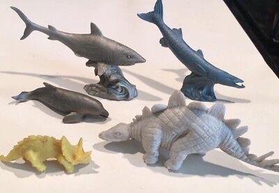 Aquatic Animals 12pcs Plastic Figures Ocean Shark Kids Small Model Toys Gift New