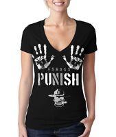 Push T-shirt - Grunt Style Women's Graphic Black V-neck Tee Shirt