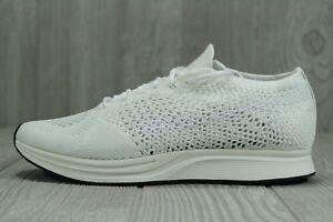 f35866ceace73 35 Nike Flyknit Racer Men s Running Shoes White Goddess 526628-100 ...