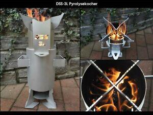 Terrassenofen-Outdoor-Holzvergaser-034-Pyrolysekocher-034-DSS-3L-TLUD-Stove
