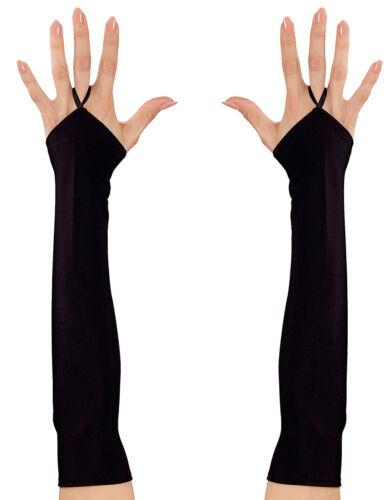 Longtemps fingerlose Gants Noir Neuf-Accessoires Accessoire Carnaval