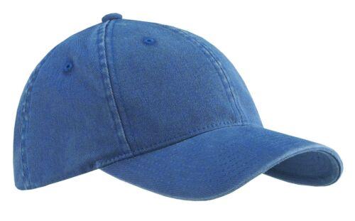 2 PACK Flexfit Garment Washed Fitted Baseball Hat Blank Plain Cap Flex Fit 6997