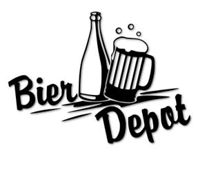Bier Depot Aufkleber Kühlschrank Schriftzug Folie Küche BAR decal 24 #8317