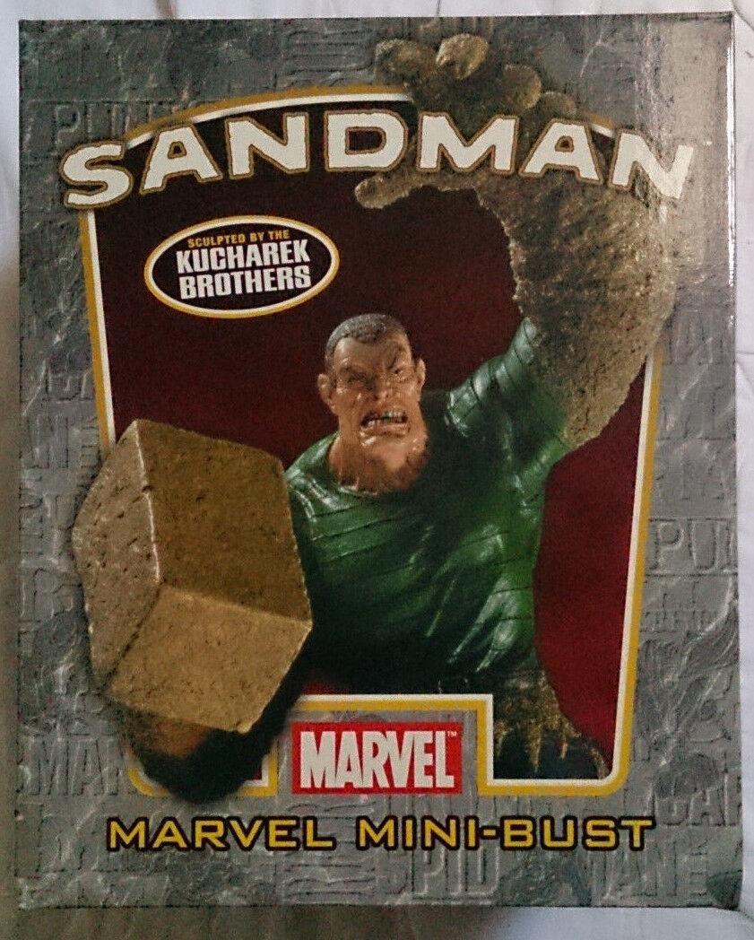 Marvel Comics Bowen Spider-Man Sandman Mini estatua Busto Con Caja