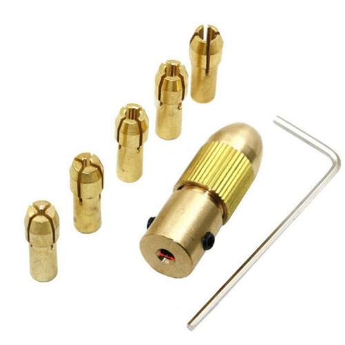 Mini Electric Self Tightening Drill Chuck Clip Head Small Hand Mill Brass Tip