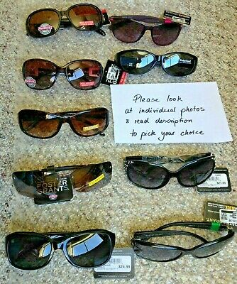 YOU Pick ONE from lot Pair Foster Grant Polarized Sunglasses 100/% UVA//B Shield