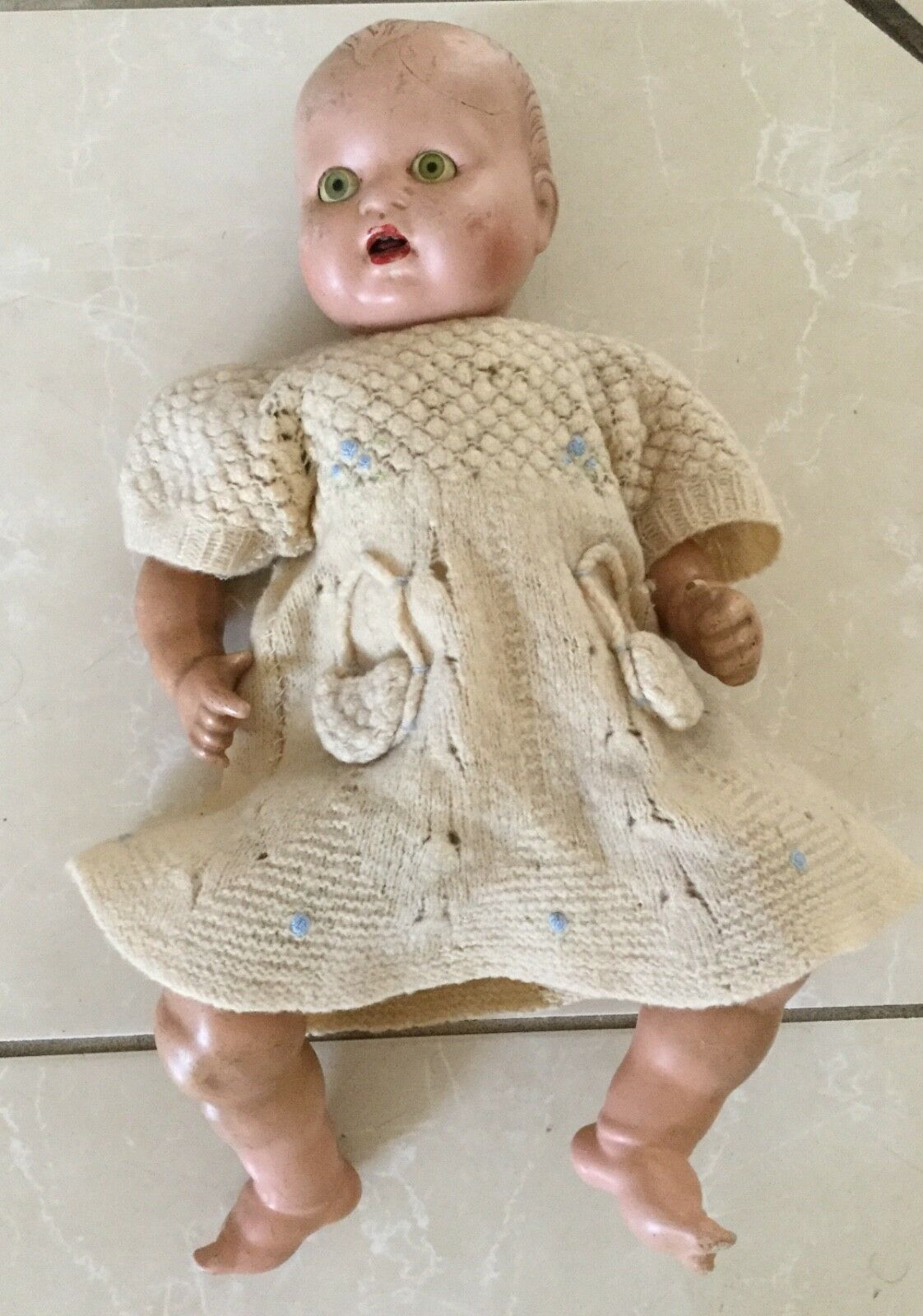 Vintage 1940's Happy Baby Composition 20  doll.  Marilou wants a good home.