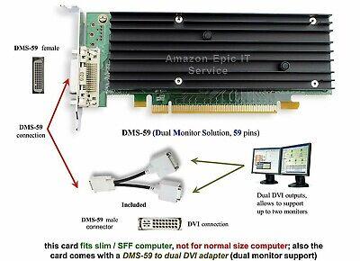 Dual VGA Monitor Nvidia Quadro DDR2 NVS 290 Video Graphics PCI Card 456137-001