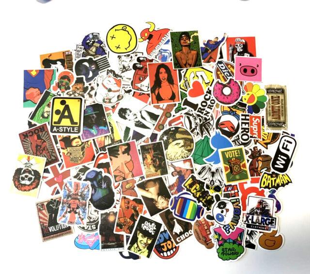 50PCS Supreme Graffiti Sticker Pack Car Laptop Vinyl Decal Car Luggage Stickers