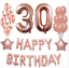 Rose-Gold-Series-Foil-Latex-Balloon-Helium-Star-Birthday-Party-Wedding-Decor-CA thumbnail 5