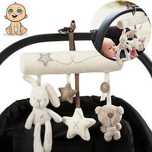 Baby Rattles Plush Animal Stroller Music Hanging Bell Toys Doll Crib Bed Gift