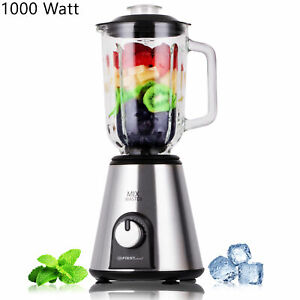 Standmixer-Edelstahl-Glasbehaelter-1000-Watt-Ice-Crucher-Hochleistungsmixer-1-5L