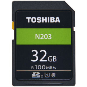 Toshiba-N203-32GB-SD-SDHC-Memory-Card-UHS-I-U1-C10-100MB-s-for-Digital-Cameras