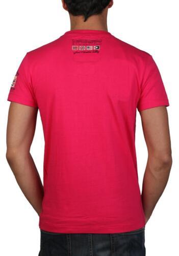 GEOGRAPHICAL NORWAY Jountain,Herren,Men,T-Shirt,Rosa,Pink,/%/%/%/%/%,Flage,NEU,M,L,XL