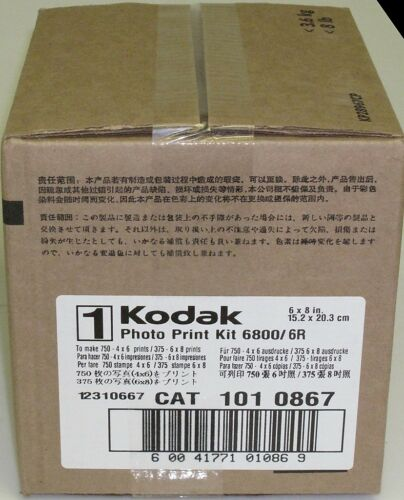 Kodak Photo Print Kit for 6800 6850 Thermal Printer 6R Ribbon /& Paper 141 9597