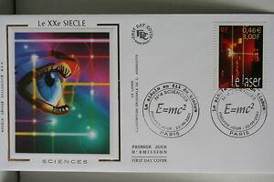 ENVELOPPE-PREMIER-JOUR-SOIE-2001-LE-XX-SIECLE-SCIENCES