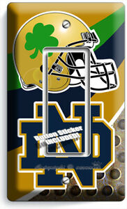 Details About Notre Dame College Football Team 1 Gfci Light Switch Wall Plates Dorm Room Decor
