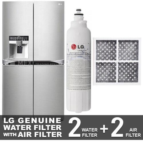 2X LG AIR FILTER LT120F 2X LG GENUINE FRIDGE FILTER FOR GF-5L712PL