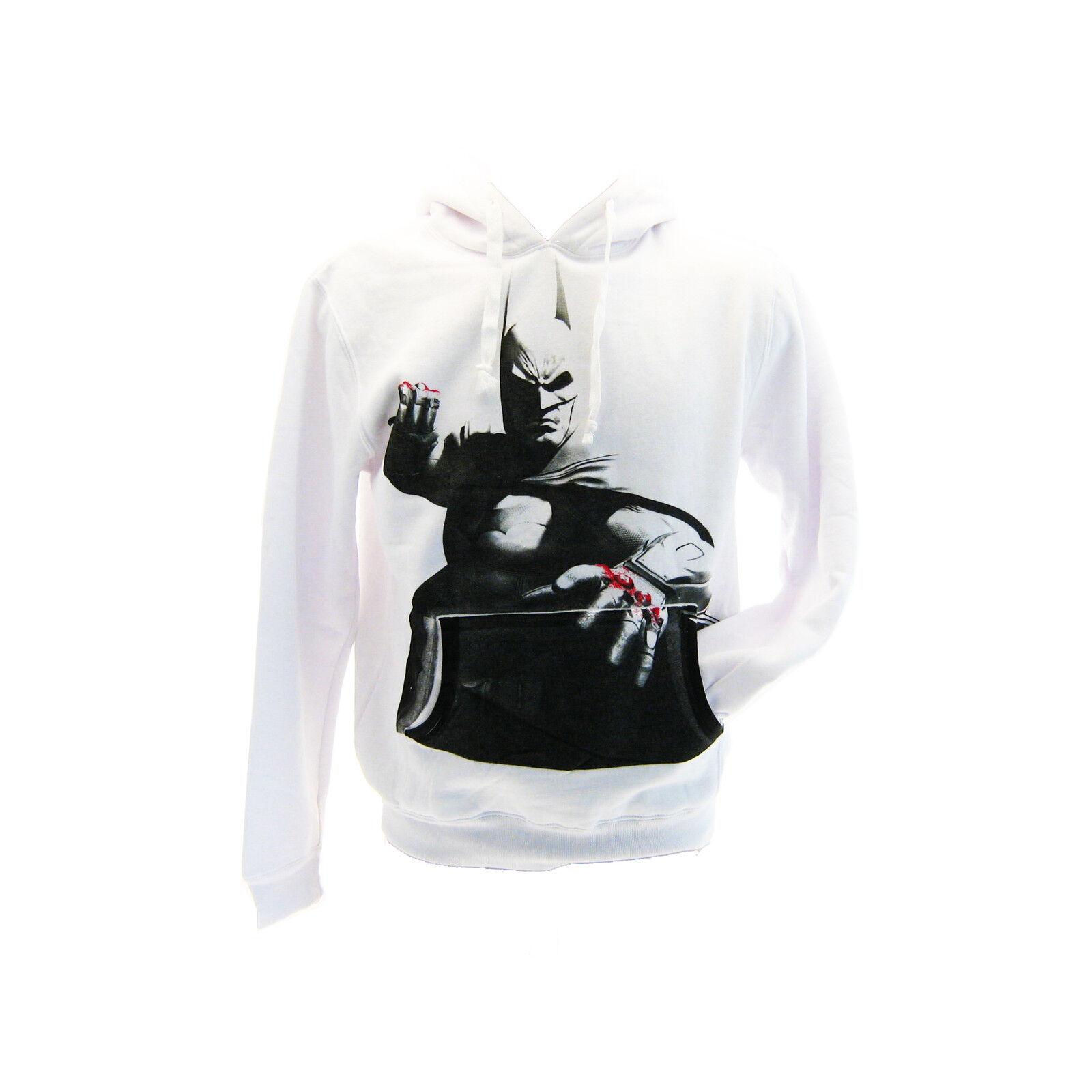 Sweatshirt Batman Büste Weiß