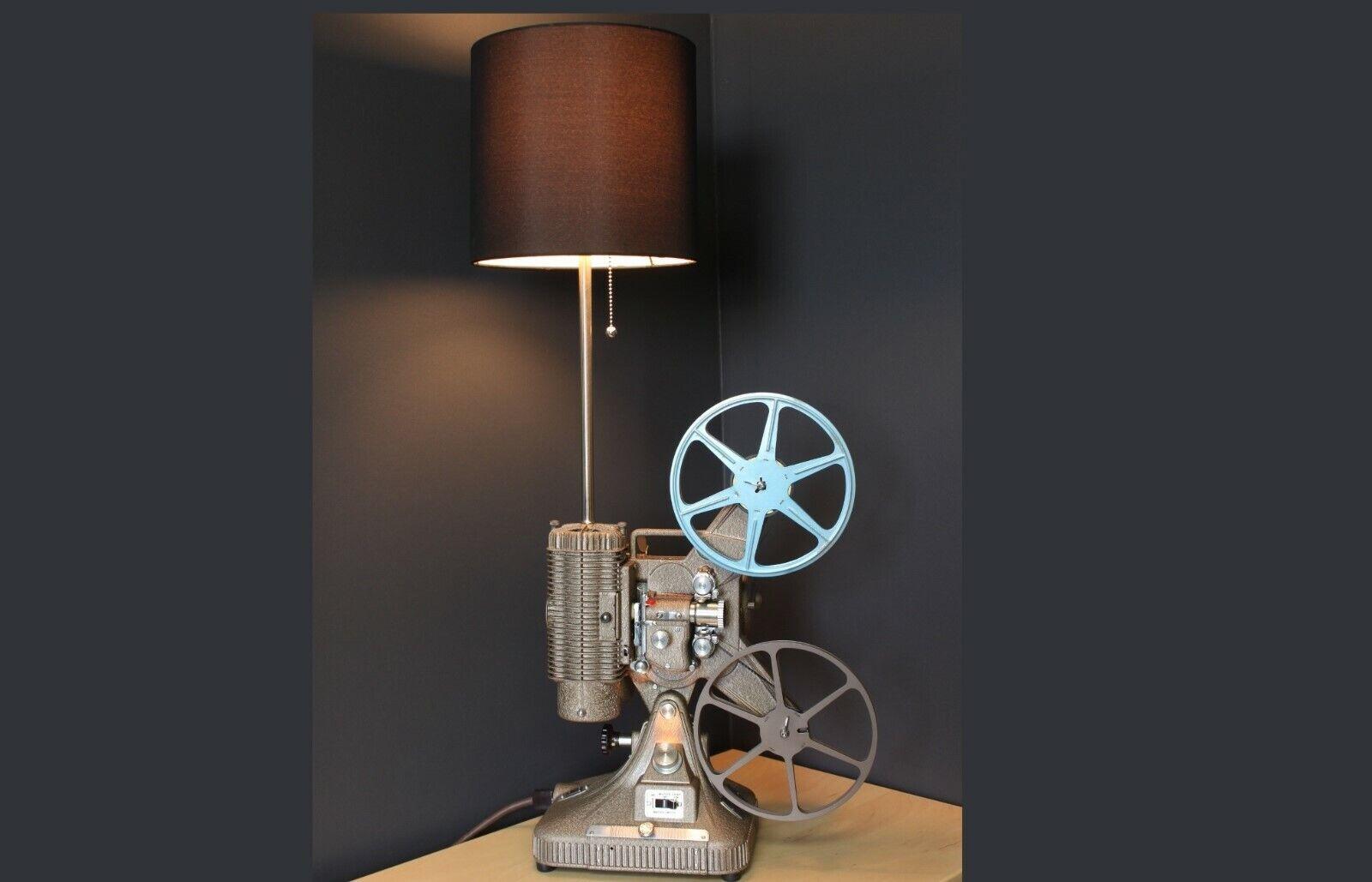 Vintage Table Lamp   Desk Lamp - Keystone Regal 8MM Projector - Hollywood décor