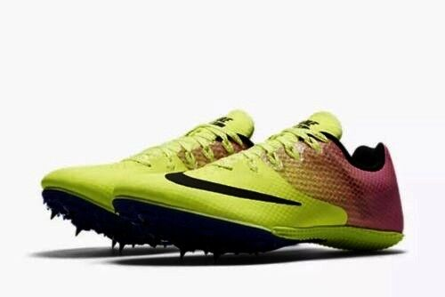 Nike ZOOM RIVAL S8 Track Running Sprint Shoes VOLT PINK Spikes Mens 11.5