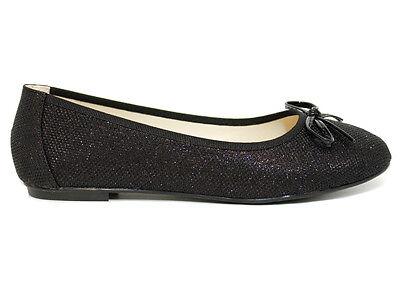 Filles Ballerine Plates Escarpins Plain Femme Travail École Dolly Chaussures Taille 3-8