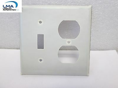HUBBELL Two Gang Stainless Steel Wall Plate
