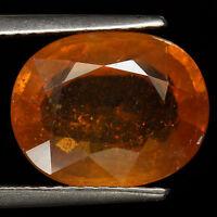 Top Sapphire : 5,62 Ct Natürlicher Gelb Orange Saphir Aus Madagaskar