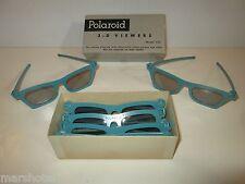 VINTAGE POLOROID 3-D MOVIE GLASSES VIEWERS IN BOX 7 PAIRS EYEGLASSES OPTICAL