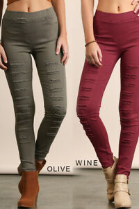 f627c3f42bd79 Image is loading NWT-Umgee-S-Wine-Burgundy-Distressed-High-Waist-