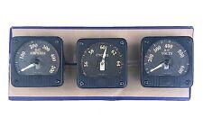 3 Vintage General Electric Panel Power Meter Gauge Set Amperes Votls Cycles