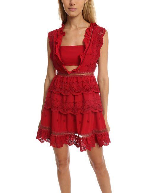 Self-Portrait Tiered Broderie-anglaise Mini Dress Brand New BNWT IT 38 US 2
