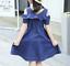 Girls-Dress-Casual-Cotton-Blue-Denim-Kids-Off-shoulder-Dresses-Age-3-12-Years thumbnail 3