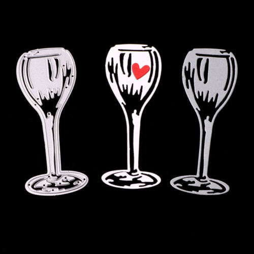 Party Wine Glass Goblet Metal Cutting Dies Scrapbooking  Embossing Paper Stencil