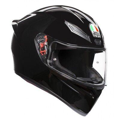 Casco integrale Agv K-1 K1 nero opaco black matt doppio anello pista corsa